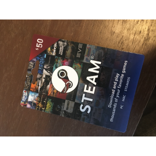 Two $50 Steam Gift Cards