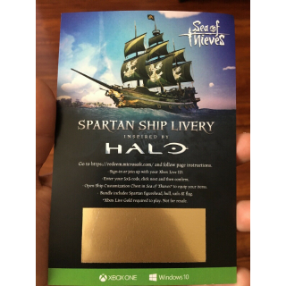 Sea of Thieves HALO Spartan Ship Livery DLC Code XBOX Windows 10