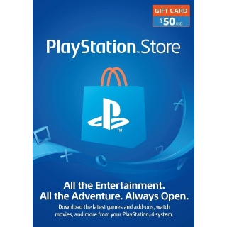 $50 Playstation Store (INSTANT DELIVERY)