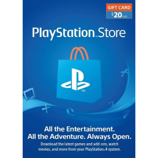 $20 Playstation Store (INSTANT DELIVERY)