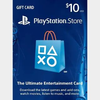 $10.00 PlayStation Store *INSTANT DELIVERY*