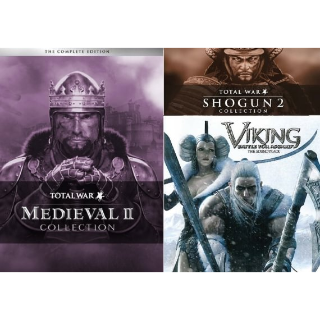 Shogun: Total War Collection, Medieval II: Total War Collection, Viking: Battle for Asgard (Steam - Instant delivery)
