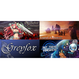 Gladiator Trainer + Legend of Mysteria RPG + Greyfox RPG + Out There Somewhere Steam Keys