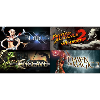 X-Blades + Jagged Alliance 2 - Wildfire + Enclave + Dawn Of Magic 2 Steam Keys