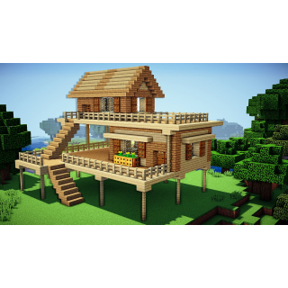 I will build you an amazing looking minecraft house.