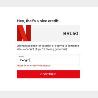 $50 BRL Netflix gift card Brasil