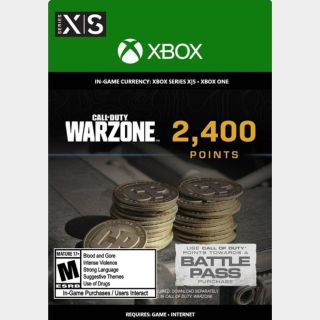 Call of Duty: Warzone Points - 2400 - Xbox - US - INSTANT DELIVERY