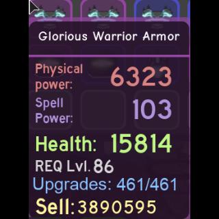 Other   Glor Warrior Armor MAXED