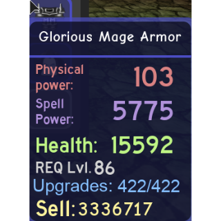 Other | Glorious Mage Set MAXED