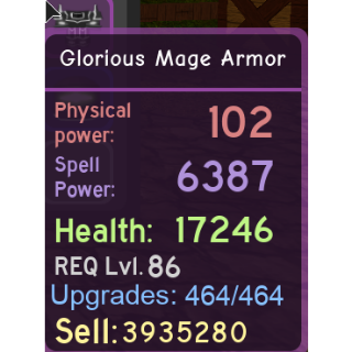 Other | Glor Mage Armor (MAXED)