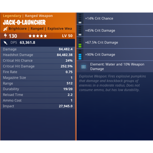 Jack O Launcher | 15x water jacko full dur