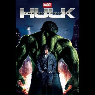 The Incredible Hulk 4k MA Code