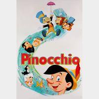Disney Pinocchio HD MA Code