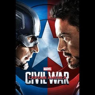 Captain America: Civil War 4k MA Code