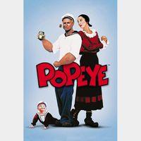 Popeye HD Vudu or Itunes code