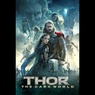 Thor: The Dark World 4k MA Code
