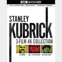 Stanley Kubrick 3-Film 4K MA Code (Shining, 2001 Space and Full Metal Jacket)