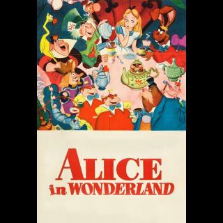 Alice in Wonderland (Animated) HD MA Code