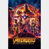 Avengers: Infinity War 4k MA Code