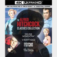 The Alfred Hitchcock Classics Collection 4K MA Code (4 Movies)