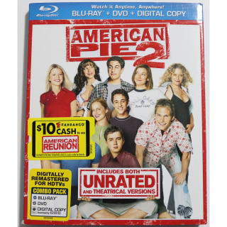 American Pie 2 UNRATED BLU RAY DVD COMBO Comedy