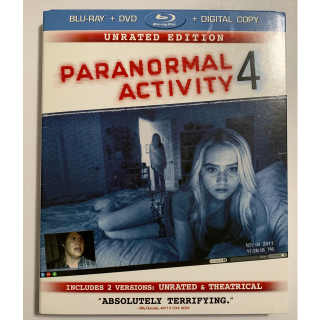 Paranormal Activity 4 BLU RAY DVD COMBO