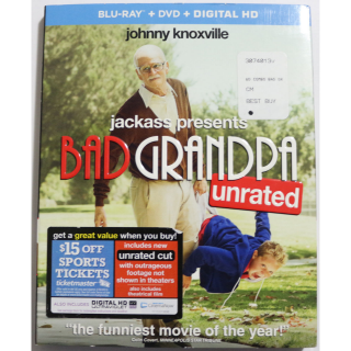 Jackass Presents: Bad Grandpa Unrated BLU RAY DVD COMBO Comedy