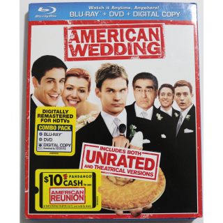 American Wedding UNRATED BLU RAY DVD COMBO Comedy