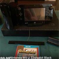 Nintendo Wii U 32gigabit Black with Games!