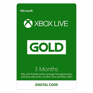 Xbox Live Gold Membership - 3 Months - Global - RRP $24.99