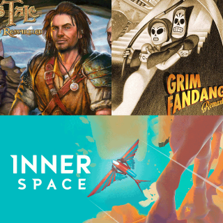 Grim Fandango Remastered + The Bard's Tale + InnerSpace (Playstation 4 PS4 digital bundle)