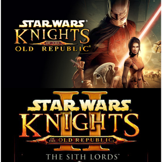 Star Wars Knights of the Old Republic (Kotor 1 and 2 Sith Lords) Bundle Instant Delivery