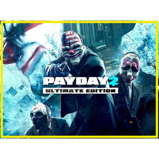 Payday 2 Ultimate Edition (PC Windows Steam Key Global Digital) Instant Delivery