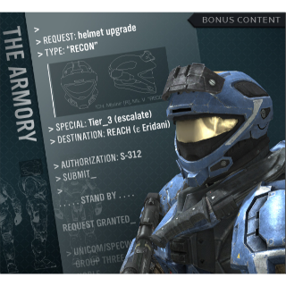 Halo Reach RECON Helmet Upgrade Digital Code (Xbox 360) Instant Delivery