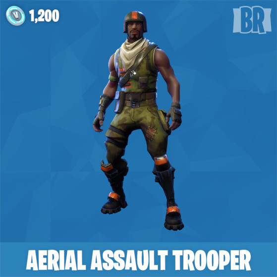fortnite acoount assault trooper and 24 skin 15 dances 10 pickaxe 14 gliders instant delivery xbox ps4 pc - aerial assault trooper fortnite skin png