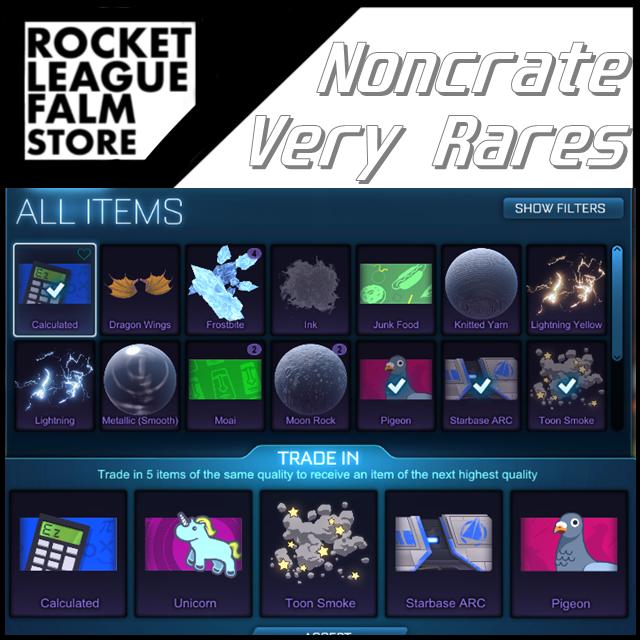 Noncrate Very Rares | 70x