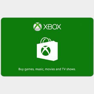 $70.00 Xbox Gift Card