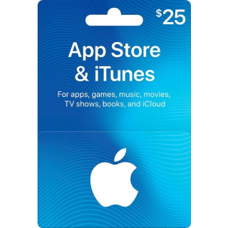 $25.00 iTunes