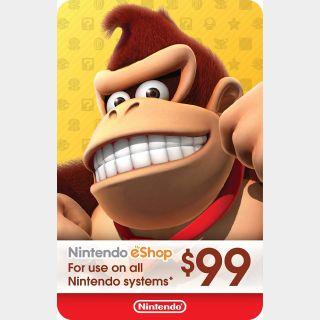 $99.00 Nintendo eShop [CANADA]