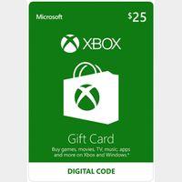 $25.00 Xbox Gift Card