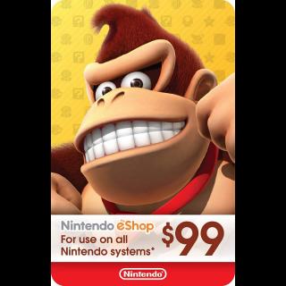 $99.00 Nintendo eShop
