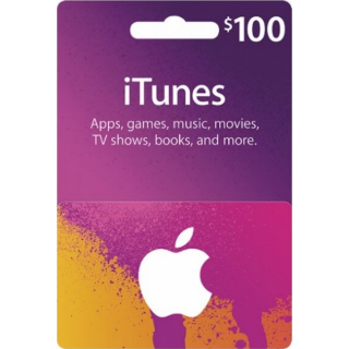 $100.00 iTunes