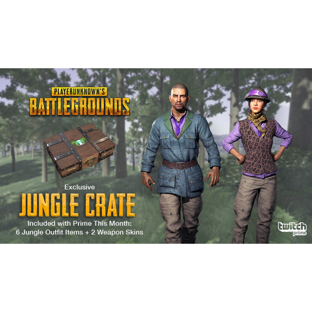 PUBG Account Twitch Price Jungle Crate ( Just link to PUBG account )