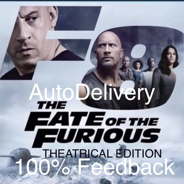 The Fate of the Furious + Free movie code HD Ultraviolet