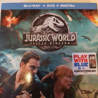 Jurassic world Fallen Kingdom Blu-ray And Dvd