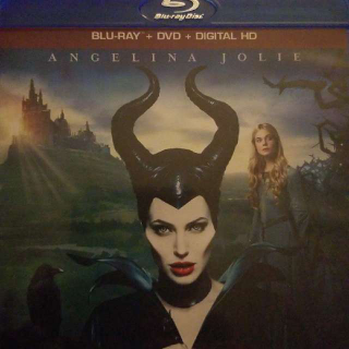 Disney Maleficent Blu Ray and Dvd