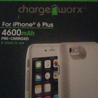 Charge Worx White Iphone6plus Case
