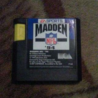 Madden 1994 Sega Game