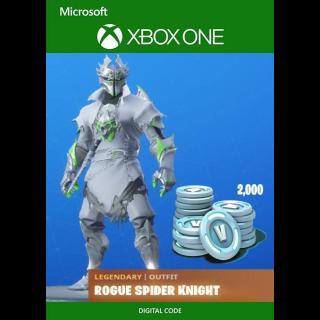 Rogue Spider Knight Skin and 2000 V-Bucks XBOX CODE!