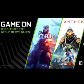 Anthem PC NVIDIA RTX Redemption Code